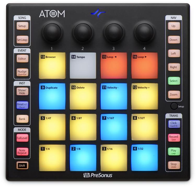 Presonus ATOM Music Production USB Pad Controller
