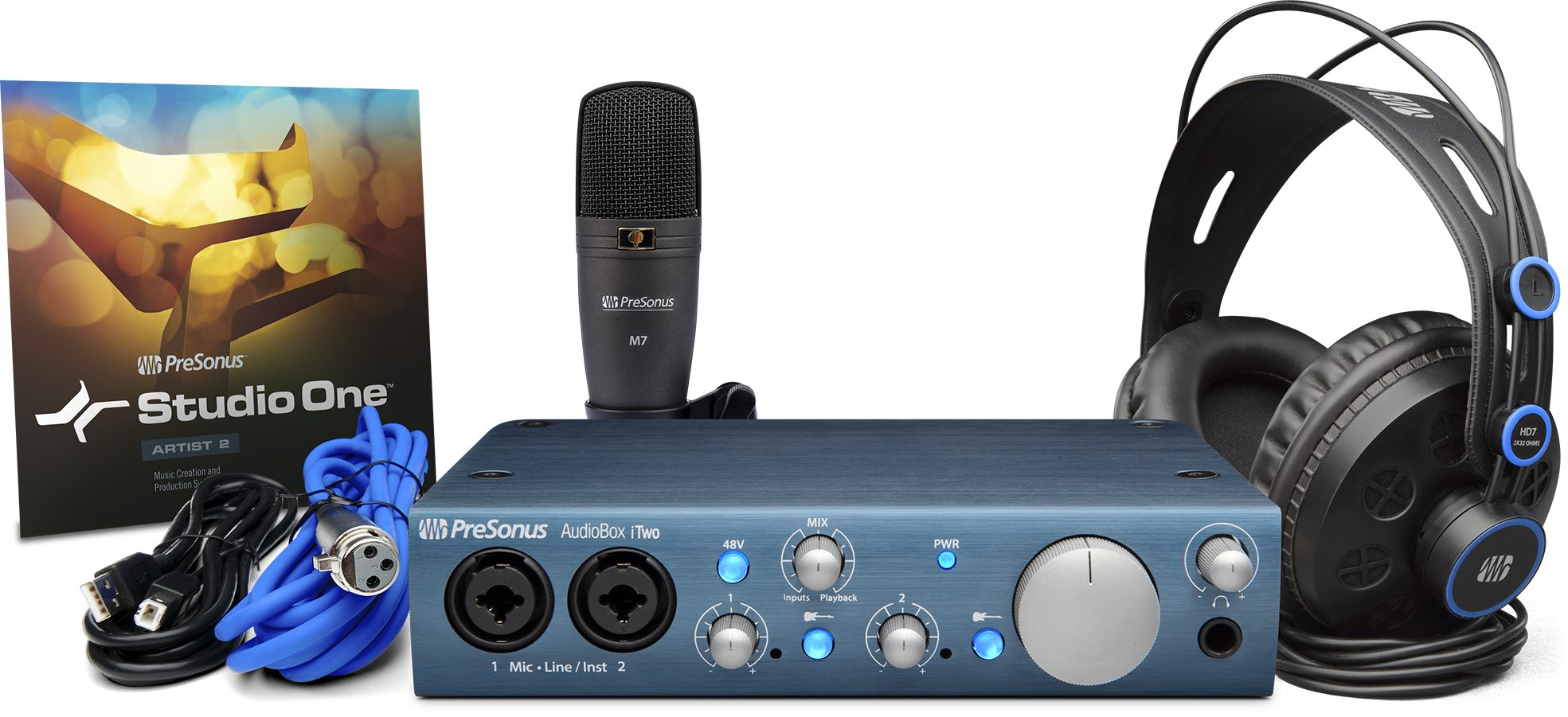 Presonus Audiobox iTwo Studio w/Mic and Headphones