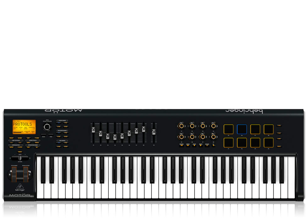 Behringer Motor 61 Midi Keyboard With Motorized Faders And