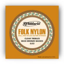D'Addario EJ33 Folk Nylon Ball End
