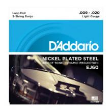 D'Addario EJ60 5 String Banjo Light