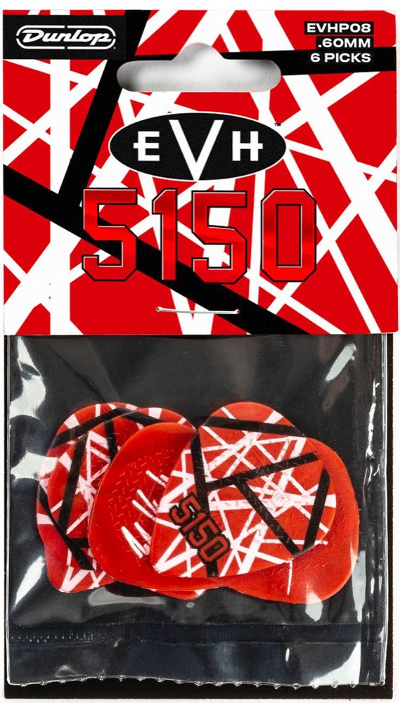 EVH 5150 Guitar 6 Pick Pack by Dunlop