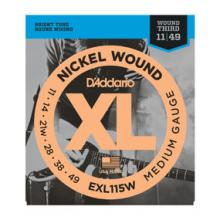D'Addario EXL115W 11-49 Nickel Wound G