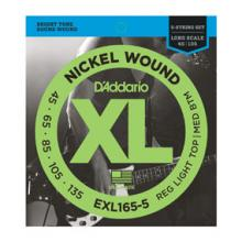 D'Addario EXL165-5 45-135 Bass Regular Light  …