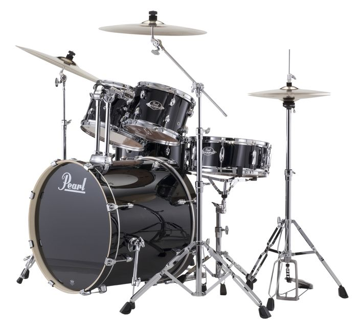 Pearl Export Five Piece Kit in Black With  …
