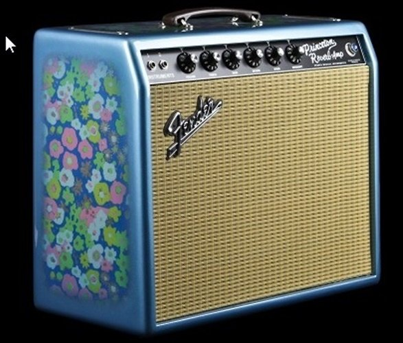 Fender '65 Princeton Reverb Limited in Blue Flower