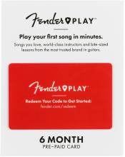 Fender Play 6 Month Prepaid Card