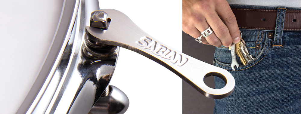 Sabian Flat Key Keychain Drum Key