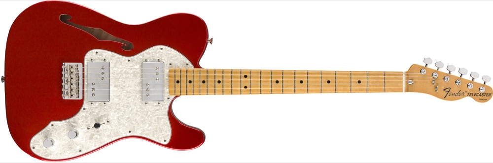 Fender Vintera 70's Tele Thinline In Candy  …