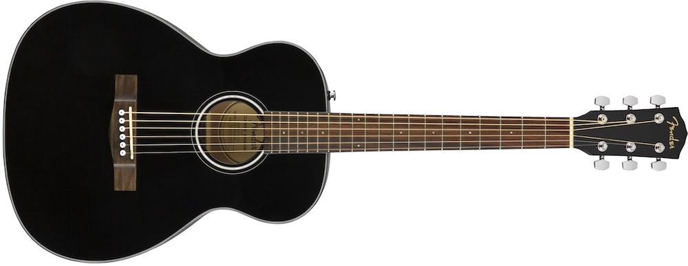 Fender CT-60S BLK Solid Top Travel Acoustic  …