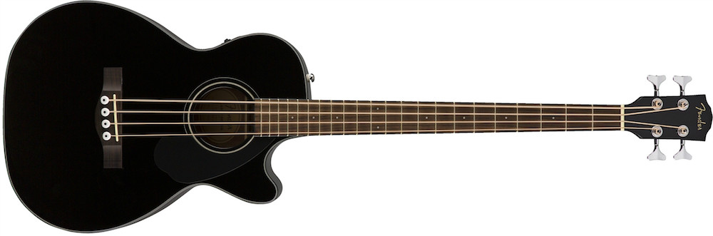 Fender CB-60SCE Solid Top Acoustic Bass In Black