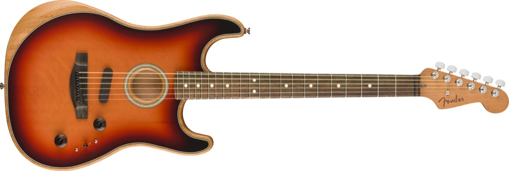Fender Acoustasonic Strat In 3-Tone Sunburst  …