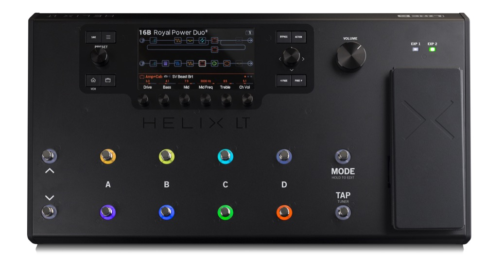 Line 6 Helix LT Guitar Multi Effects Pedal