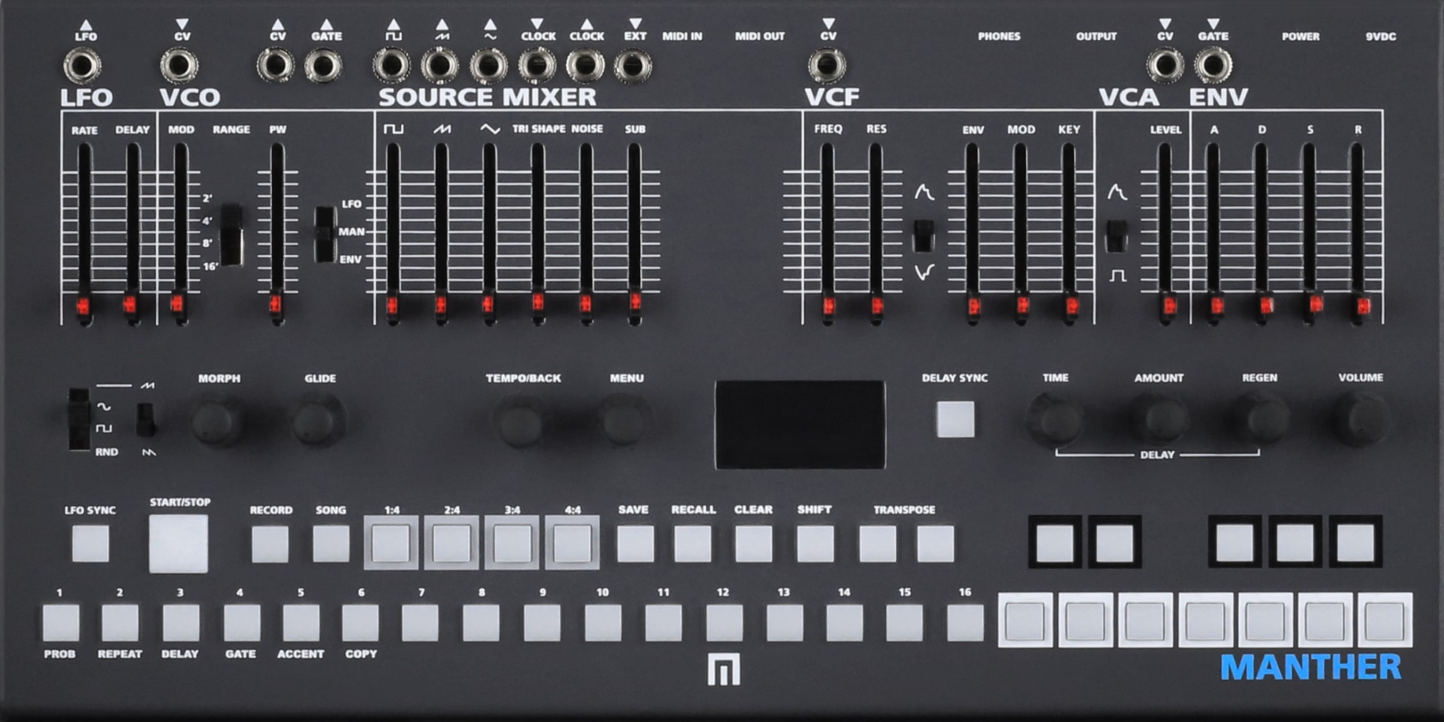Malekko Manther Mono Analog Synth