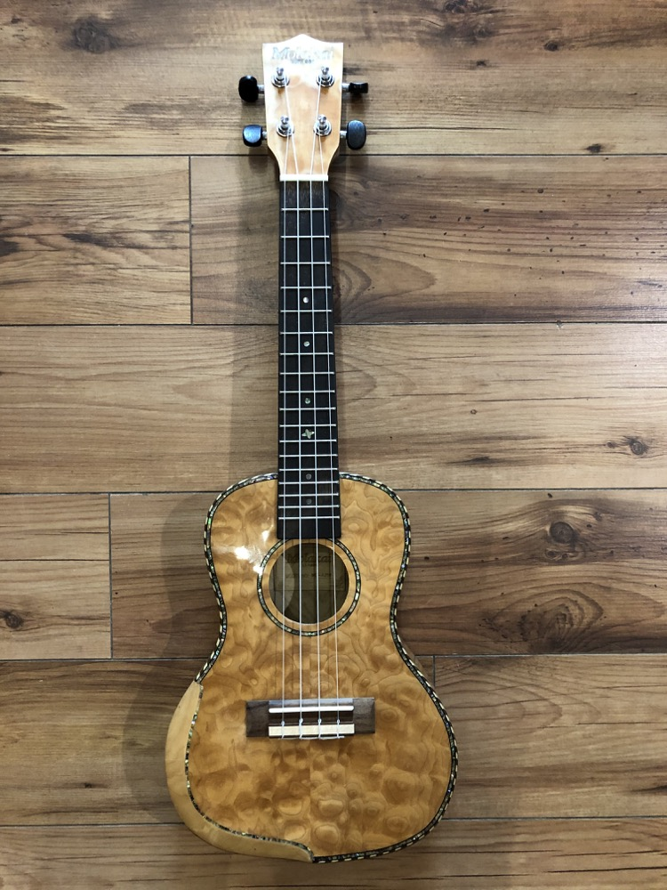 Molakai Concert Ukulele With Quilted Maple  …