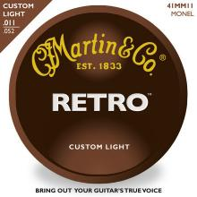 Martin Retro Custom Light Acoustic Strings  …