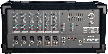 Yorkville 6 Channel Powered Box Mixer 325W Dfx
