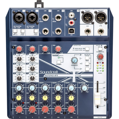 Soundcraft 8 Channel Mixer with USB and  …