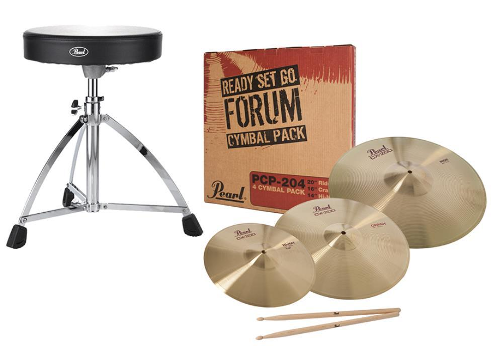 Pearl Cymbals D-730 Throne and 5A Stick Pack  …