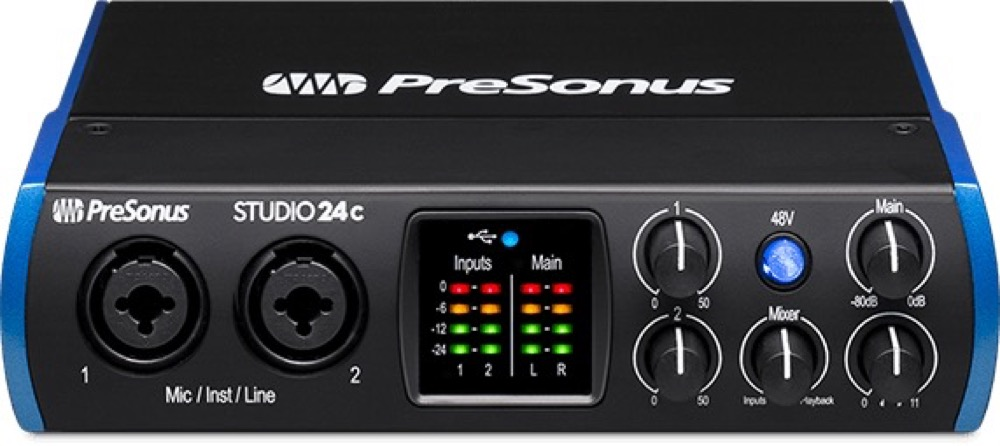 Presonus Studio 24C 2 x 2 USB-C Audio Interface