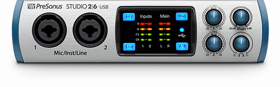 Presonus Studio-26 2 x 6 USB Audio Interface