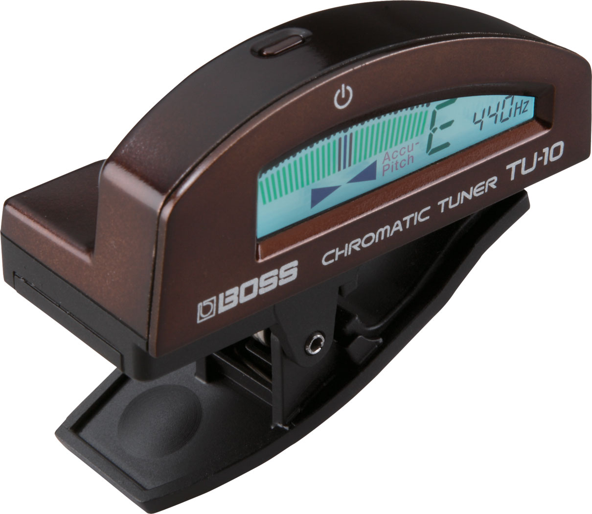 BOSS TU-10 Clip On Tuner In Brown