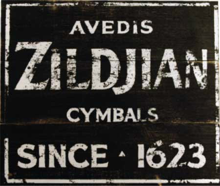 Zildjian Vintage Factory Sign