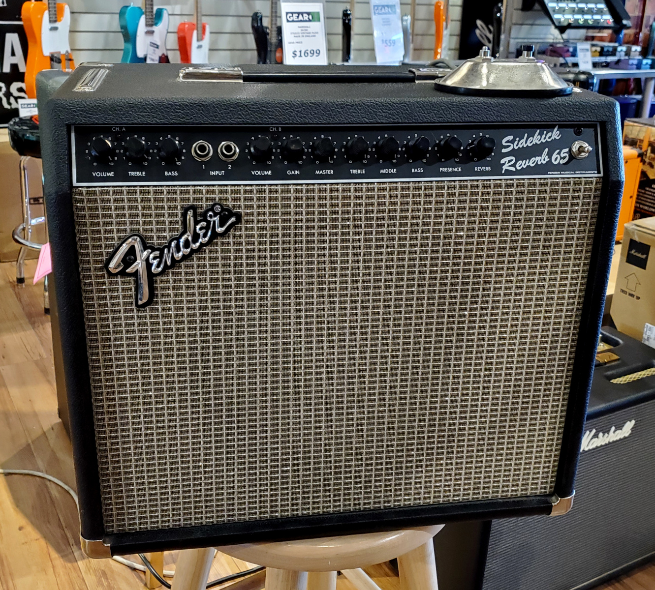USED Fender Sidekick Reverb 65 w/cover